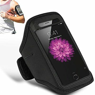 BLACK FOR SPORTS RUNNING GYM ARMBAND STRAP CASE COVER FOR iPHONE 6S