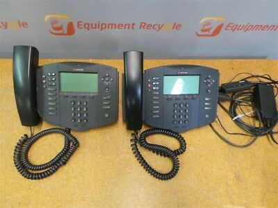 Polycom 501SIP Phone System Telephone SoundPoint Lot of 2