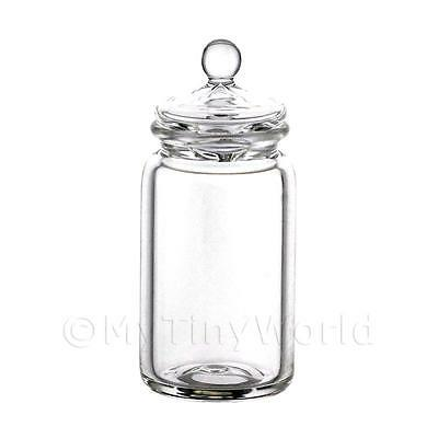 Dolls House Miniature Large Hand Blown Glass Jar With Lid
