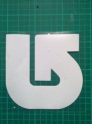 Burton Snowboard Sticker  White 6 inch square