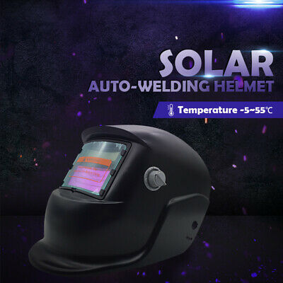 Pro BLACK Mask Shield Solar Auto Darkening Welding Helmet Arc Tig