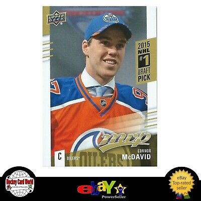 (HCW) 2015-16 Upper Deck MVP CONNOR McDAVID Rookie Redemption Oilers #1 Draft RC