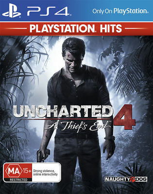 Uncharted 4 A Thief's End Playstation 4 (PS4) Game Brand New Sealed