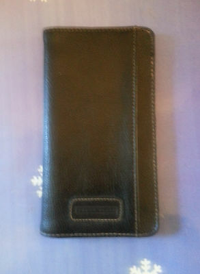 Black Bi-fold Check / Document holder with Perry Ellis Stamp on front.