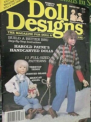 Doll Designs Magazine Winter 1987-11 Patterns-Sock Santa/Ginny Doll/Berrien Bear
