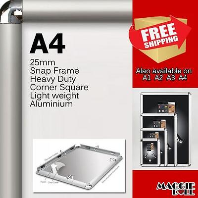 10x A4 PREMIUM Snap in poster frame poster Sign holder wall mount 25MM aluminum