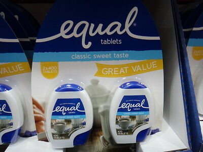 Equal Tablets (2x400 Pack) 2 x 34G