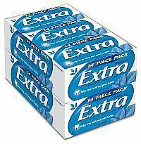 Wrigley's Extra Envelope Sugarfree Peppermint Gum 24 x 14 pack