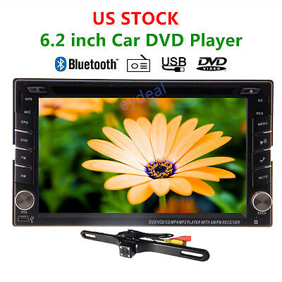 Double 2DIN In Dash GPS Navi Car DVD Player Bluetooth Auto Stereo Radio iPod+CAM