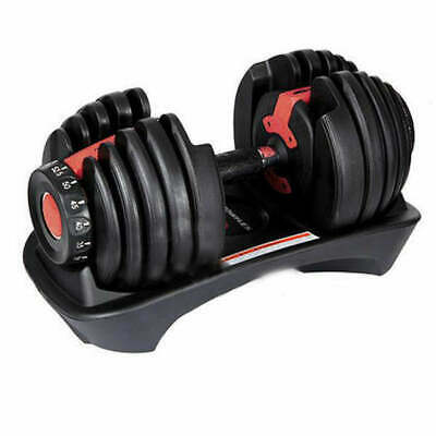 New 24kg Adjustable Dumbbell Home GYM Exercise Equipment Weights Fitness Workout
