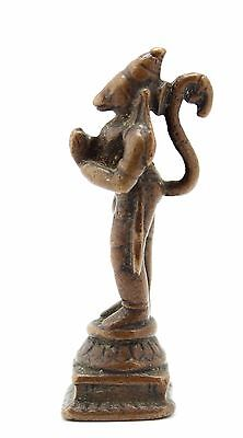 antique ca.10-13th C small Indo Javanese bronze Hanuman Mahavira Bajrangbali