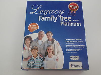 Legacy Skue106044 Family Tree Platinum Version 7 #1 Family History Software 4Cd