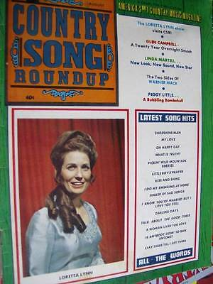 Country Song Roundup Magazine August 1970- Loretta Lynn/Glen Campbell/ Linda Mar