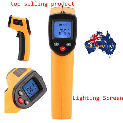 Digital Non-Contact Infrared IR Thermometer Temperature Laser Gun -50 to 330℃ K@