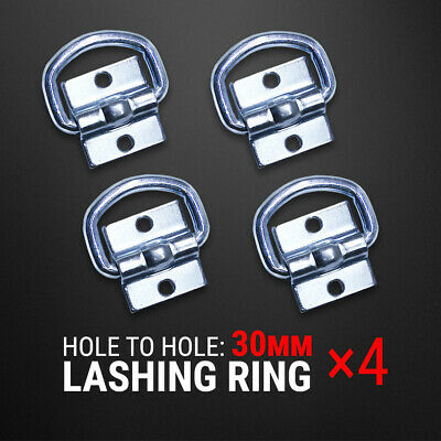4 Pcs Lashing D Ring Zinc Plated Tie Down Anchor Trailer UTE 4WD