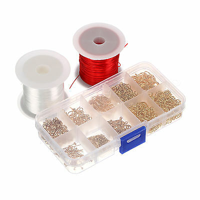 Gold Plated DIY Jewelry Making Starter Kits Beads Head Pins Chain Cord Tools Set