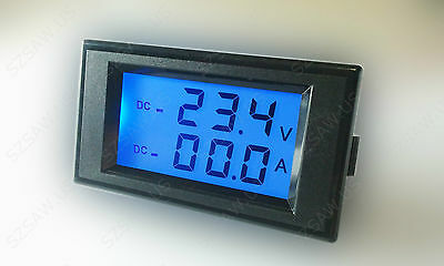 DC Combo Meter +/- 400A 200V Current Voltage Battery Monitor Charge Discharge DS
