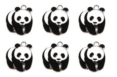 Lot 26mm cute panda Metal Charms DIY Jewelry Making Pendants kids gifts P04
