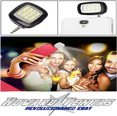 Flash Luz Led Para Telefono Movil Camara Fotos Palo Selfie Android Iphone iOS