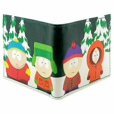 New Official Tv South Park Kyle Kenny Stan Eric Green Id & Card Bi-Fold Wallet
