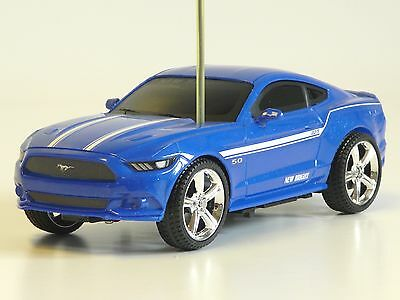 RC Auto Ford Mustang GT 1:24 27MHz blau New Bright 2423