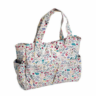 Hobby Gift Spring Time Floral Pattern PVC Craft Storage Bag