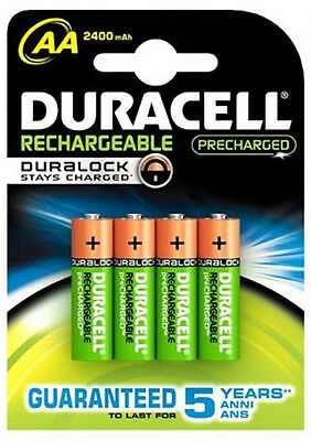 4 PILES DURACELL RECHARGEABLE 2500 mAh NiMH AA HR06 LR6 RECHARGEABLE BATTERIE