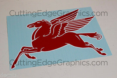 Pegasus decal sticker Mobil Oil racing vintage pump gas left facing outdoor HUGE