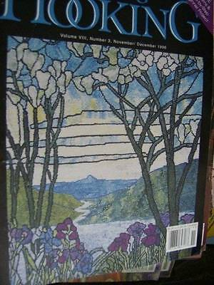 Rug Hooking Magazine November December 1996 Calla Lilies/Grandma's Spiral/Father