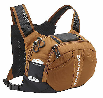 New 2016 Umpqua Overlook 500 Zero Sweep Fly Fishing Chest Pack In Copper