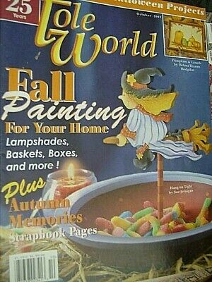 Tole World Painting Magazine October 2002-Pumpkins/Ghosts/Sunflower Angel/Franke