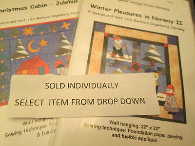 Christmas Cabin Julehus OR Winter Pleasures In Norway Quilt PATTERN Your Choice