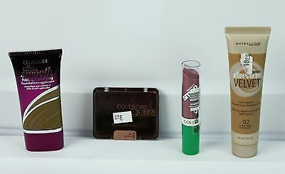 Lot of Makeup Covergirl Smooth Foundation Queen Eye Shadow Lip Gloss Velvet