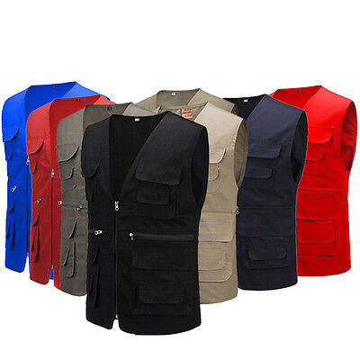 Men's Multi Pocket Travelers Fishing Photography Vest Outdoor Jacket New Style