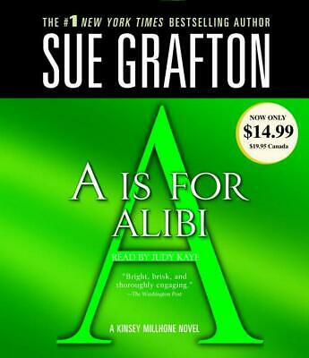 A is for Alibi by Sue Grafton (English) Compact Disc Book Free Shipping!