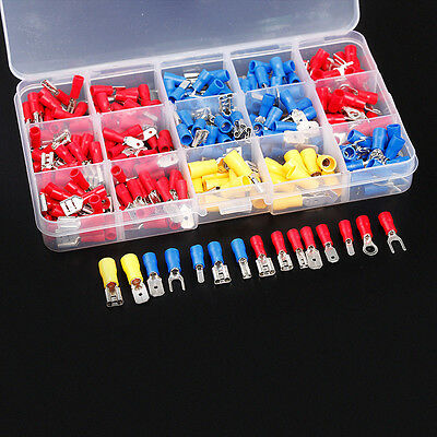 280Pcs Assorted Insulated Electrical Wire Terminal Crimp Spade Connector Kit Box