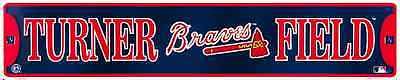 "ATLANTA BRAVES STREET SIGN 24"" x 5"" EMBOSSED METAL TURNER FIELD TOMAHAWK MLB"