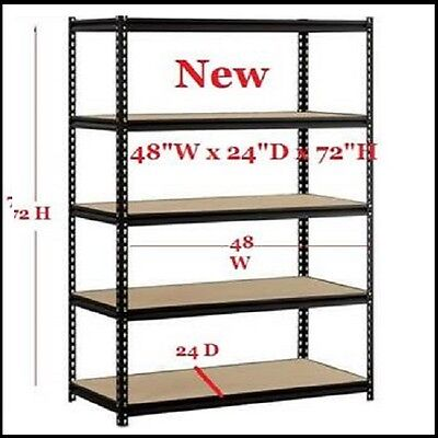 Steel Metal Storage Shelf Garage Heavy Duty 5 Shelves Adjustable Rack 4000 Lbs.