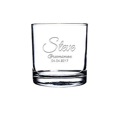 Etched Scotch Glass,Personalized Rocks Glass, Custom Whiskey Glass