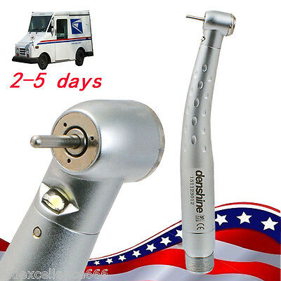 Dental Optic LED High Speed Handpiece Fiber Standard 3 Spray Push Button 2 Hole