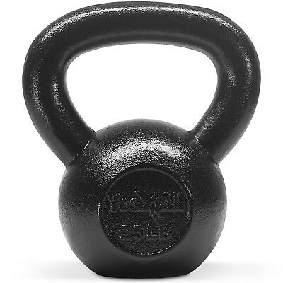 Yes4All Kettlebell 25 lbs Solid Cast Iron Fitness Gym Body Training - ²KFKQD