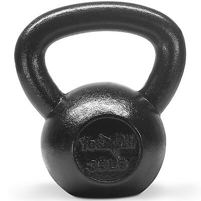 Yes4All Kettlebell 35 lbs Solid Cast Iron Fitness Gym Body Training - ²KJ24D