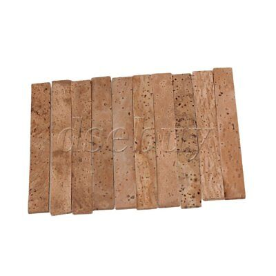 10PCS Natural Clarinet Neck Cork Sheet 81 x 11 x 2 mm