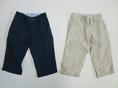Boys trousers linen  MONSOON  baby 3 6 9 12 18 24 months 2 - 10 years  RRP £20 +