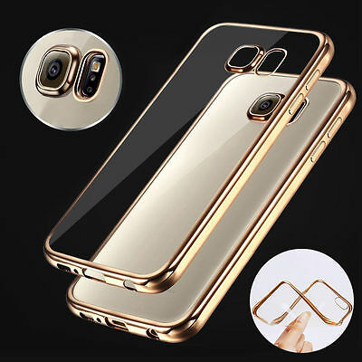 Shockproof Crystal Bumper Silicone TPU Gel Clear Case Cover For Samsung Galaxy #