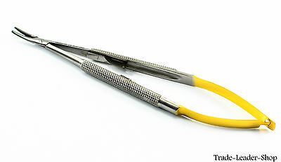 Castroviejo Needle Holder 14 cm curved with lock TC gold suture surgical NATRA