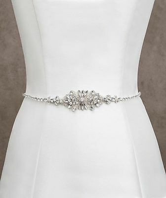 Crystal Bridal Belts Wedding Sash Rhinestone Wedding Accessory Any Colour Ribbon
