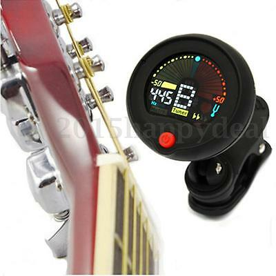 Clip-on Chromatic Tuner Metronome For Electric Guitar Bass Ukulele Banjo Violin