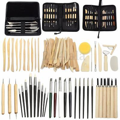 Pro Wood Clay Sculpting Set Wax Carving Pottery Tools Shapers Polymer Modeling