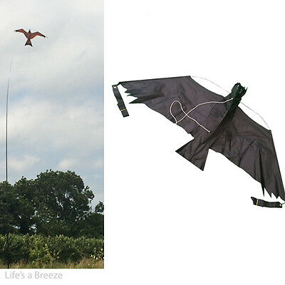 3D Black hawk Kite kits. Bird Scarer Protect Farmers Crops. With A Free Line
